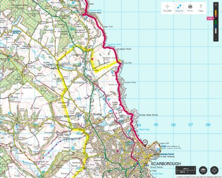 Robin Hood's Bay To Scarborough Yorkshire